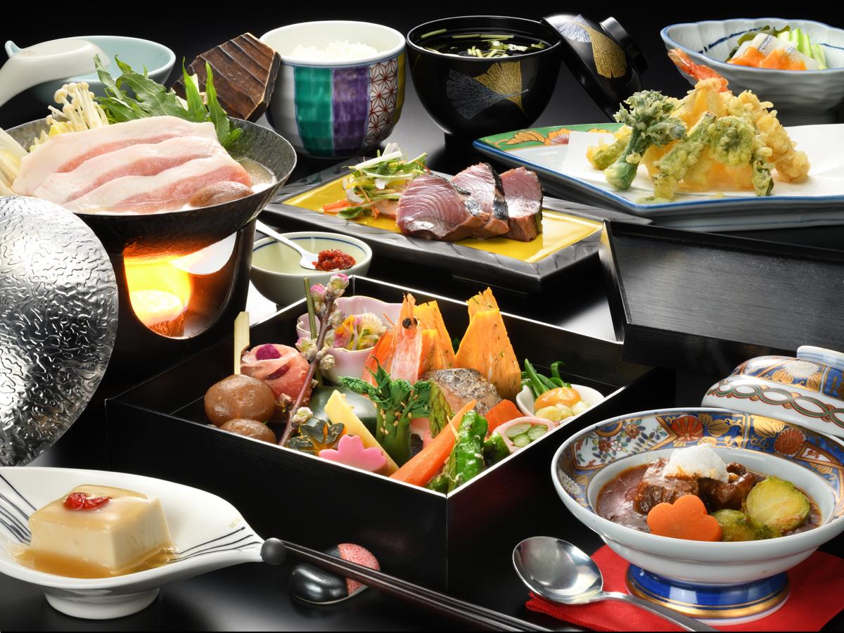 色とりどりの食材、春を感じさせる味覚のお弁当…【春限定】爛桜の宴プラン
